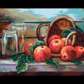 """Набор для раскрашивания по дереву """"Натюрморт с яблоками. Жанна Когай"""" 50х40см """"Фрея"""""""
