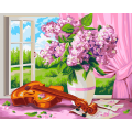 """Набор для раскрашивания по дереву """"Сирень и скрипка. Жанна Когай"""" 50х40см """"Фрея"""""""