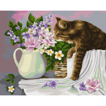 """Набор для раскрашивания по дереву """"Кошка в лукошке. Жанна Когай"""" 50х40см """"Фрея"""""""