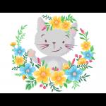 "Набор для раскрашивания на картоне ""Котёнок в цветах"" 30х40см ""Фрея"""