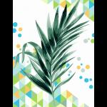 "Набор для раскрашивания на картоне ""Пальмовый лист"" 30х40см ""Фрея"""