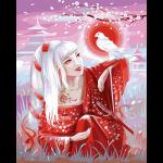 """Набор для раскрашивания """"Девушка в красном кимоно"""" 50х40см """"Фрея"""""""