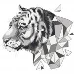 """Набор для раскрашивания """"Полигональный тигр"""" 50х40см """"Фрея"""""""