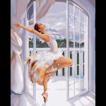 """Набор для раскрашивания """"Балерина у окна"""" 50х40см """"Фрея"""""""