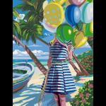 """Набор для раскрашивания """"Девушка с шариками"""" 30х40см """"Фрея"""""""