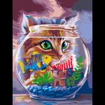 """Набор для раскрашивания """"Котёнок и рыбка"""" 30х40см """"Фрея"""""""