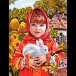 """Набор для раскрашивания """"Русская красавица"""" 30х40см """"Фрея"""""""