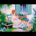 """Набор для раскрашивания """"В цветущем саду"""" 30х40см """"Фрея"""""""