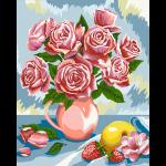 """Набор для раскрашивания """"Натюрморт с розами"""" 30х40см """"Фрея"""""""