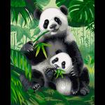 "Набор для раскрашивания ""Хозяева бамбукового леса"" 30х40см ""Фрея"""
