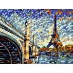 """Набор для раскрашивания """"Панорама Парижа"""" 30х40см """"Фрея"""""""