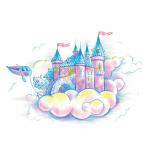 """Набор для раскрашивания цветными карандашами """"Небесное королевство"""" """"Фрея"""""""