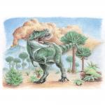 """Набор для раскрашивания цветными карандашами """"Тираннозавр рекс"""" """"Фрея"""""""