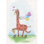 """Набор для раскрашивания цветными карандашами """"Забавный жираф"""" """"Фрея"""""""