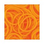 """Резинки для плетения светло-оранжевые матовые 600 шт. RLB-01 """"Hobbius"""""""