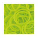 """Резинки для плетения желтые матовые 600 шт. RLB-01 """"Hobbius"""""""