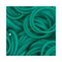 """Резинки для плетения цв. морской волны матовые 600 шт. RLB-01 """"Hobbius"""""""