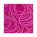 """Резинки для плетения темно-розовые матовые 600 шт. RLB-01 """"Hobbius"""""""