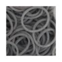 """Резинки для плетения серые матовые 600 шт. RLB-01 """"Hobbius"""""""