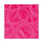 """Резинки для плетения светло-розовые прозрачные 600 шт. RLB-01 """"Hobbius"""""""