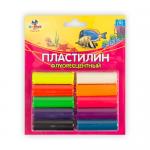 "Пластилин флуоресцентный 10цв. ""KANZY"""