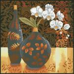 """Набор для картины стразами """"Натюрморт с орхидеей"""" """"Паутинка"""""""