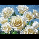 """Набор для картины стразами """"Белые розы"""" """"Паутинка"""""""
