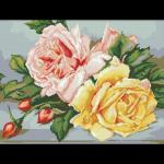 """Набор для картины стразами """"Трио чайных роз"""" """"Паутинка"""""""