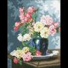 """Набор для картины стразами """"Ваза с садовыми розами"""" """"Паутинка"""""""