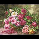 """Набор для картины стразами """"Корзина садовых роз"""" """"Паутинка"""""""