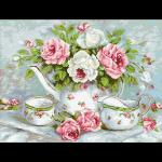 """Набор для картины стразами """"Розовый чай"""" """"Паутинка"""""""