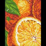 """Набор для картины стразами """"Апельсины"""" """"Паутинка"""""""