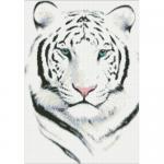"""Набор для картины стразами """"Белый тигр"""" """"Паутинка"""""""