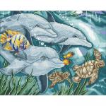 """Набор для картины стразами """"Дельфины"""" """"Паутинка"""""""