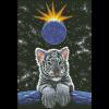 """Набор для картины стразами """"Лунный тигрёнок"""" """"Паутинка"""""""
