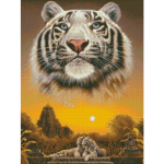 """Набор для картины стразами """"Царь джунглей"""" """"Паутинка"""""""