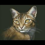 """Набор для картины стразами """"Абиссинская кошка"""" """"Паутинка"""""""