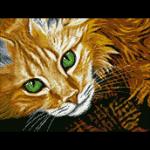 """Набор для картины стразами """"Рыжий кот"""" """"Паутинка"""""""