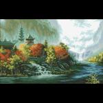 """Набор для картины стразами """"Китайский пейзаж"""" """"Паутинка"""""""