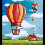 """Набор аппликация в стиле пэчворк """"Воздушный шар"""" """"Peppy"""""""