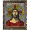 """Набор для картины стразами """"Икона Иисус Христос в терновом венце"""" """"Преобрана"""""""