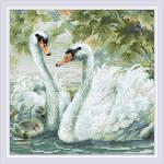 """Набор для картины стразами """"Белые лебеди"""" """"Риолис"""""""