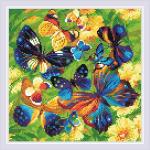 """Набор для картины стразами """"Яркие бабочки"""" """"Риолис"""""""