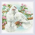 """Набор для картины стразами """"Белые голуби"""" """"Риолис"""""""