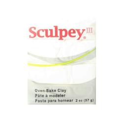 """Полимерная глина Sculpey III цв. белый 57гр """"Sculpey"""" (США)"""