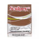 """Полимерная глина Sculpey III цв. лесной орех 57гр """"Scupley"""" (США)"""
