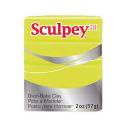 """Полимерная глина Sculpey III цв. неоновый жёлтый 57гр """"Scupley"""" (США)"""
